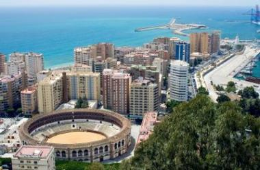 Španělské město Malaga