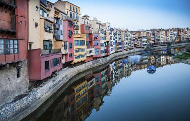 Katalánská Girona ve Španělsku